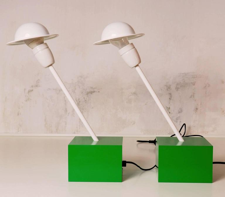 Pair of Table Lamps DON Designed by Ettore Sottsass for Stilnovo, Milano, 1973 4