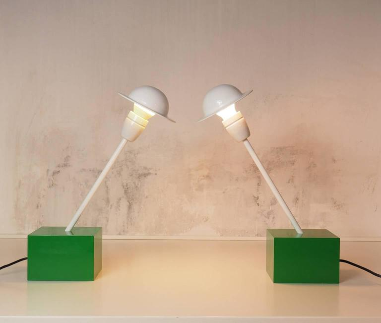 Pair of Table Lamps DON Designed by Ettore Sottsass for Stilnovo, Milano, 1973 5