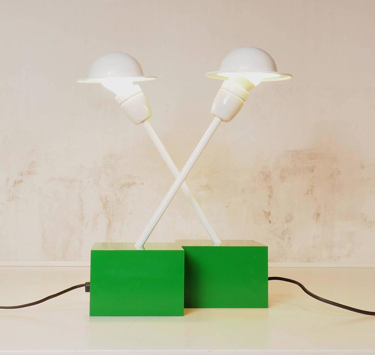 Pair of Table Lamps DON Designed by Ettore Sottsass for Stilnovo, Milano, 1973 6