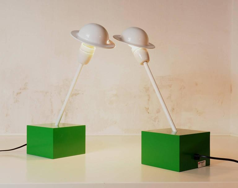 Pair of Table Lamps DON Designed by Ettore Sottsass for Stilnovo, Milano, 1973 7