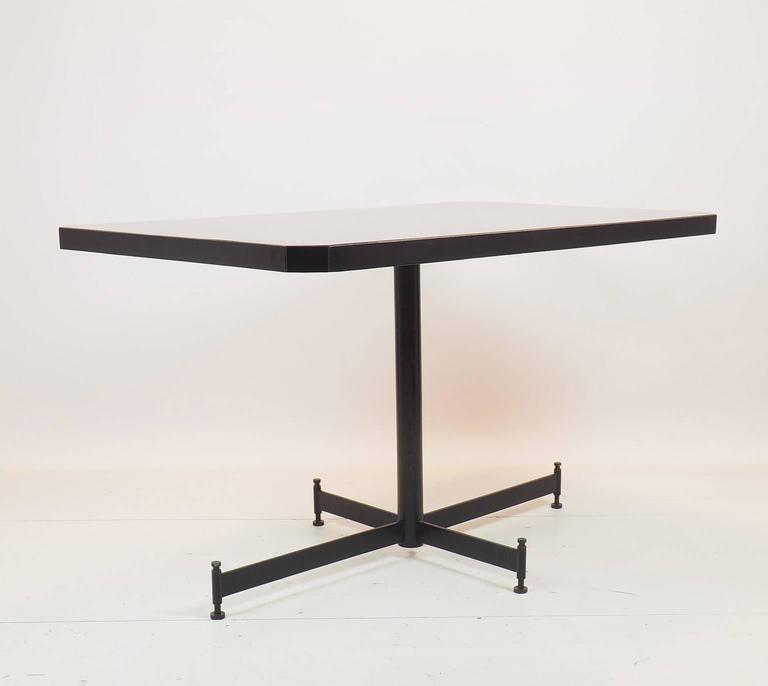 Table Top 1955: Ignazio Gardella Table With Black Top Designed For