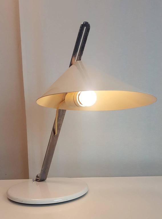 Lacquered Italian Adjustable Table Lamp, Milano, circa 1969 For Sale
