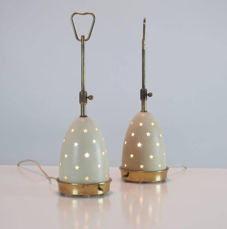 """Pair of Arredoluce Table Lamps """"Stelline"""" designed by Angelo Lelli Milano 1950s  4"""