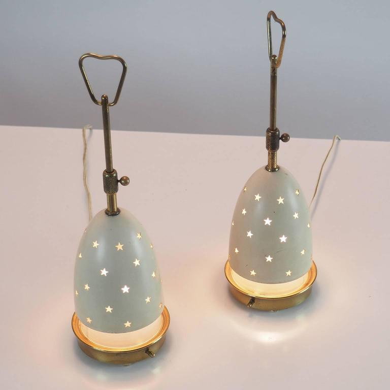 """Pair of Arredoluce Table Lamps """"Stelline"""" designed by Angelo Lelli Milano 1950s  5"""