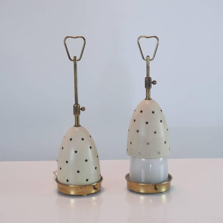 """Pair of Arredoluce Table Lamps """"Stelline"""" designed by Angelo Lelli Milano 1950s  7"""
