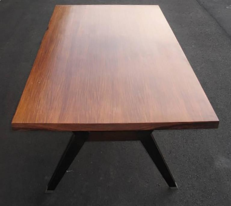 Mid-20th Century Italian Rosewood Writing Table Designed by Ico Parisi for MIM, Roma, 1960s For Sale
