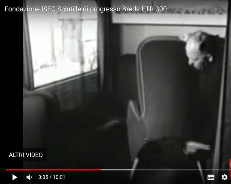 Gio Ponti e Giulio Minoletti Armchair Provenance Settebello Train in Milano 1950 For Sale 2