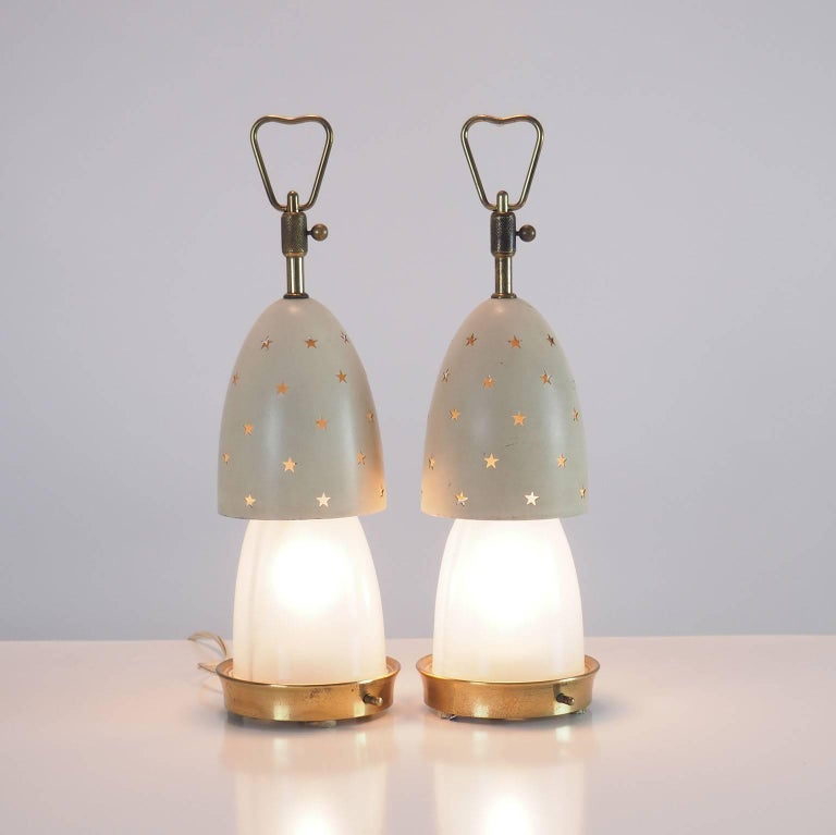 Mid-Century Modern Arredoluce Pair of Table Lamps