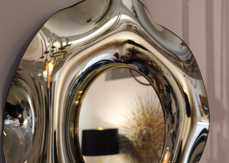 Contemporary Wave Italian Mirror by Ghiró Studio For Sale