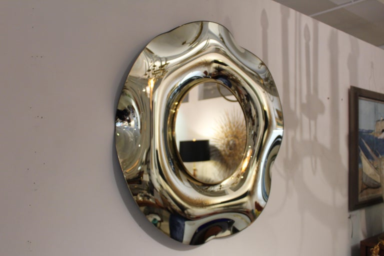 Wave Italian Mirror by Ghiró Studio For Sale 1