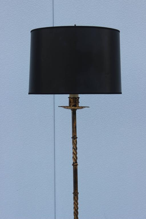 1960s French Iron Tripod Floor Lamp For Sale At 1stdibs