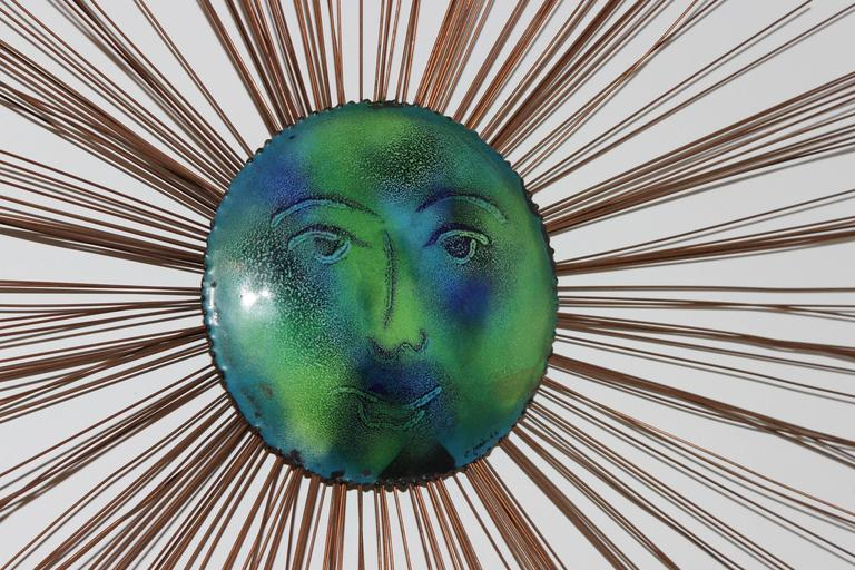 Mid-Century Modern C. Jere Moon Starburst Wall Sculpture For Sale