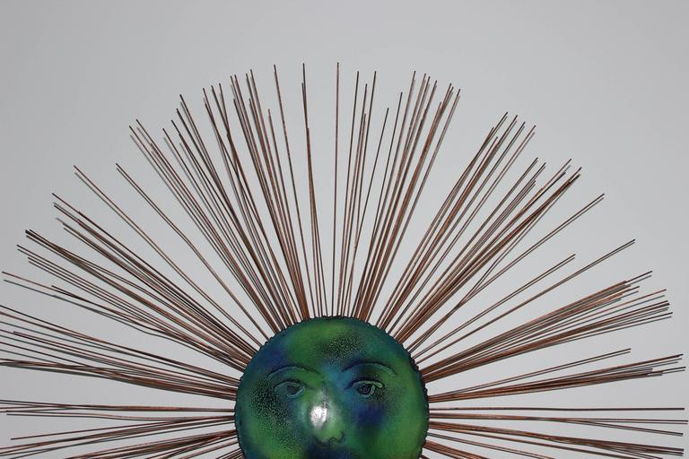C. Jere Moon Starburst Wall Sculpture In Good Condition For Sale In New York City, NY