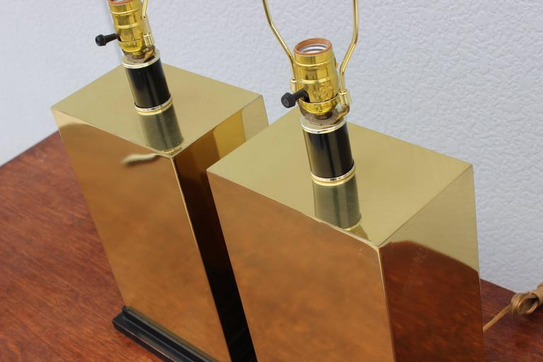 20th Century 1970s Modern Brass Table Lamps For Sale