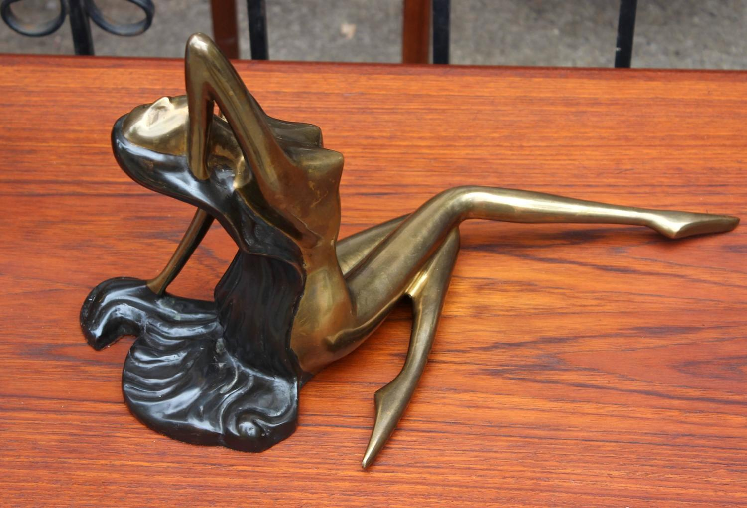 1960S French Brass Nude Women Sculpture For Sale At 1Stdibs-9629