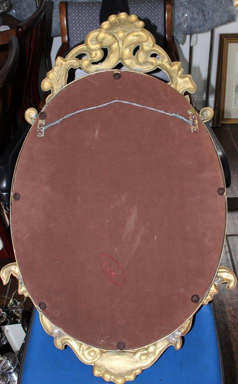1970s French Style Brass Mirror For Sale At 1stdibs