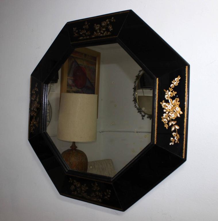 Hollywood Regency 1940s Octagonal Mirror For Sale