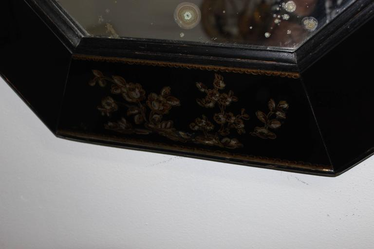Lacquer 1940s Octagonal Mirror For Sale