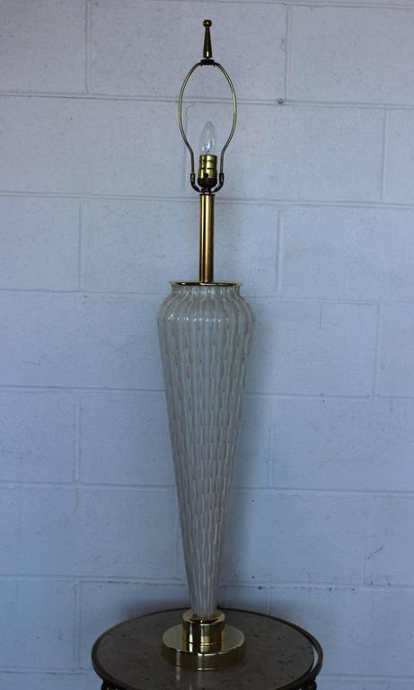 Mid-Century Modern Large Murano Glass Table Lamp For Sale