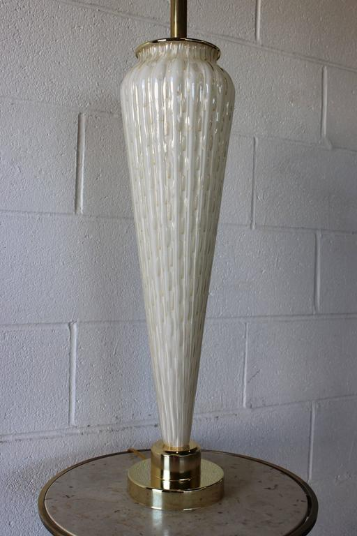 Italian Large Murano Glass Table Lamp For Sale