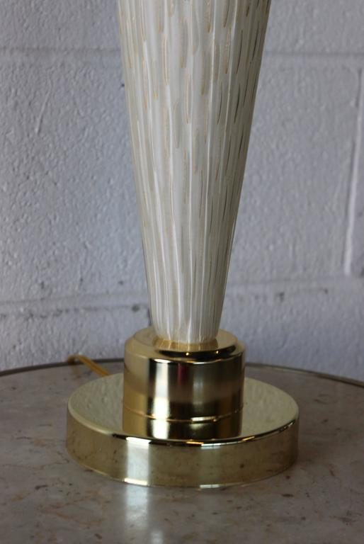 Large Murano Glass Table Lamp In Good Condition For Sale In New York City, NY