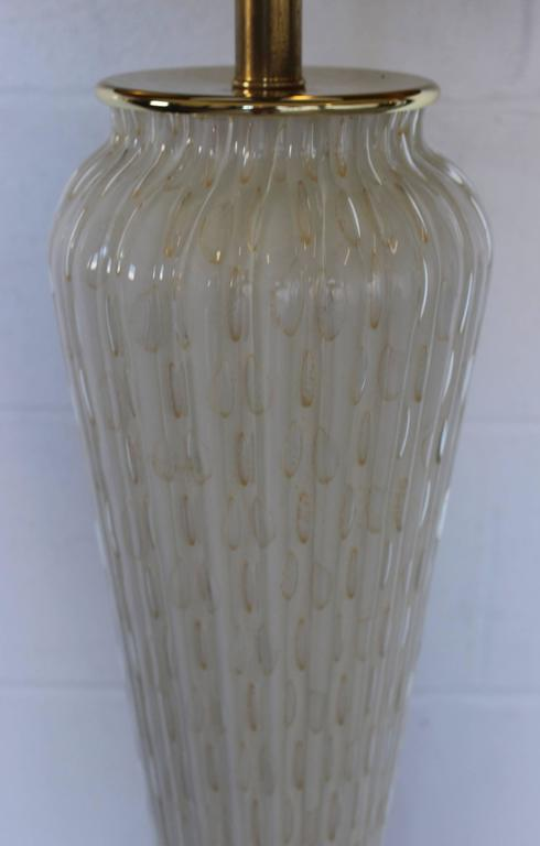 20th Century Large Murano Glass Table Lamp For Sale