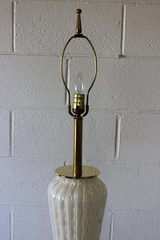Large Murano Glass Table Lamp For Sale 1