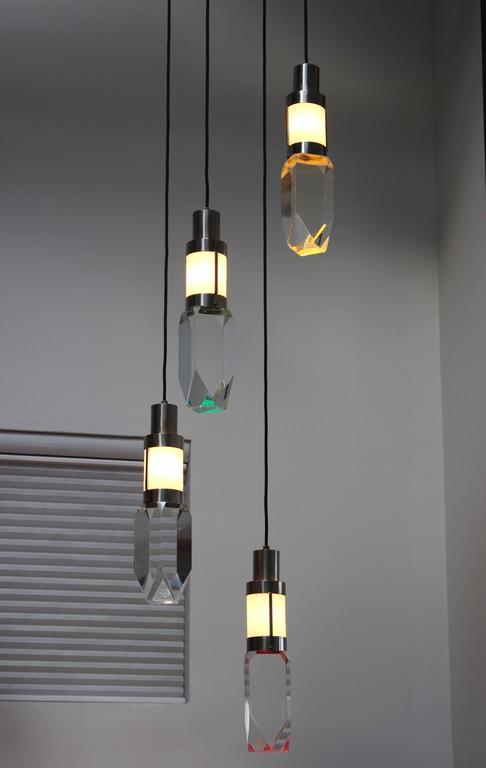 Italian Stilnovo Four Lights Chandelier For Sale