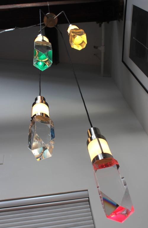 Stilnovo Four Lights Chandelier In Good Condition For Sale In New York City, NY