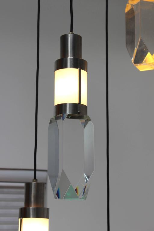 Stilnovo Four Lights Chandelier For Sale 1