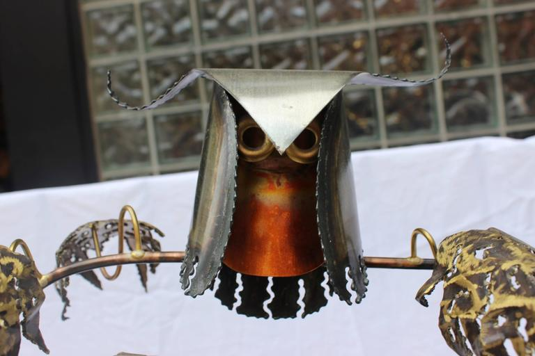 1960s Brutalist Owl Sculpture by Higgins In Good Condition For Sale In New York City, NY