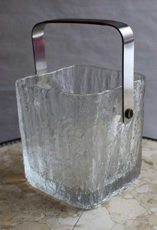 Mid-Century Modern Hoya Glass Ice Bucket For Sale