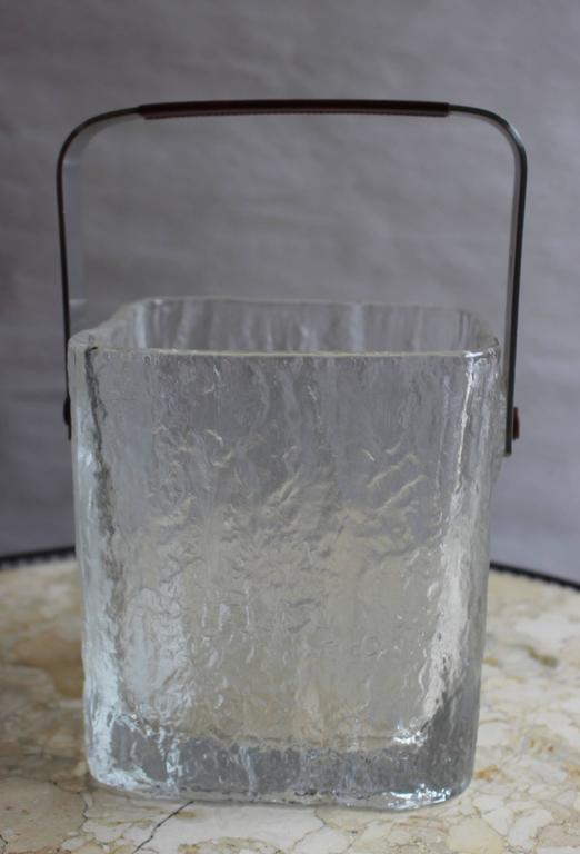 Japanese Hoya Glass Ice Bucket For Sale