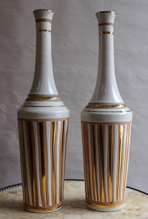 1970s Italian Pottery Vases In Good Condition For Sale In New York City, NY