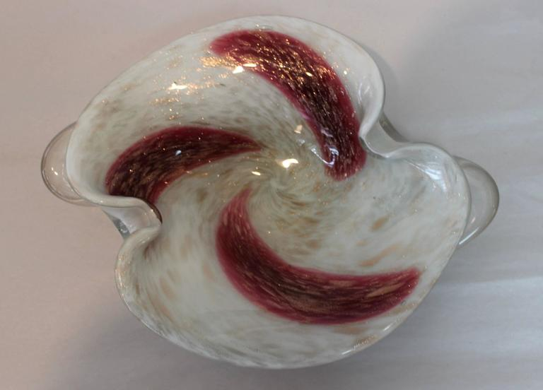 Italian Murano Glass Decorative Bowls Collection For Sale