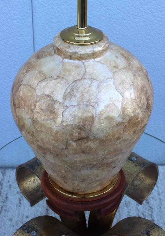 Philippine 1970s Capiz Shell Table Lamp For Sale
