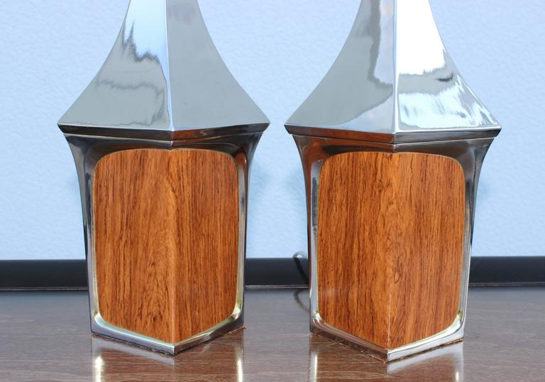Chrome Mid-Century Modern Table Lamps by Laurel For Sale