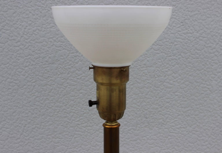 Paul Hansen Crackled Glass Table Lamp In Good Condition For Sale In New York City, NY