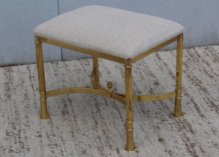 1970s Modern Italian Brass Ottomans For Sale 1