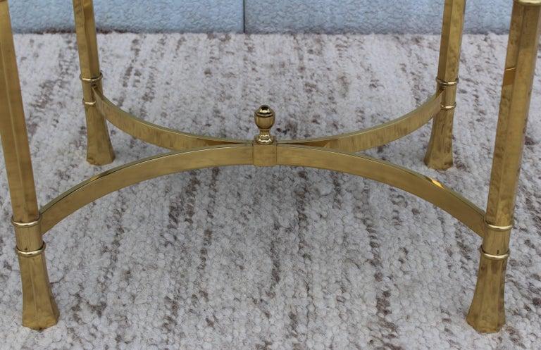 1970s Modern Italian Brass Ottomans For Sale 2