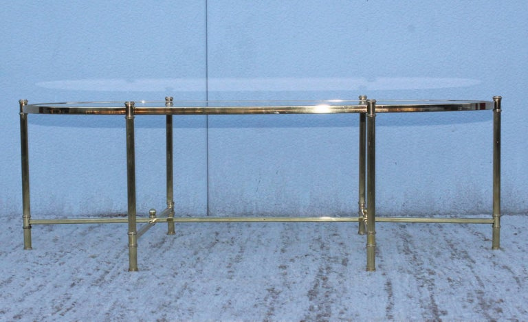 Mid-Century Modern Italian Brass Coffee Table In Good Condition For Sale In New York City, NY