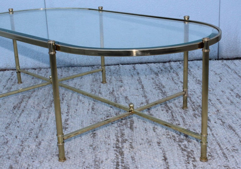 Mid-Century Modern Italian Brass Coffee Table For Sale 3