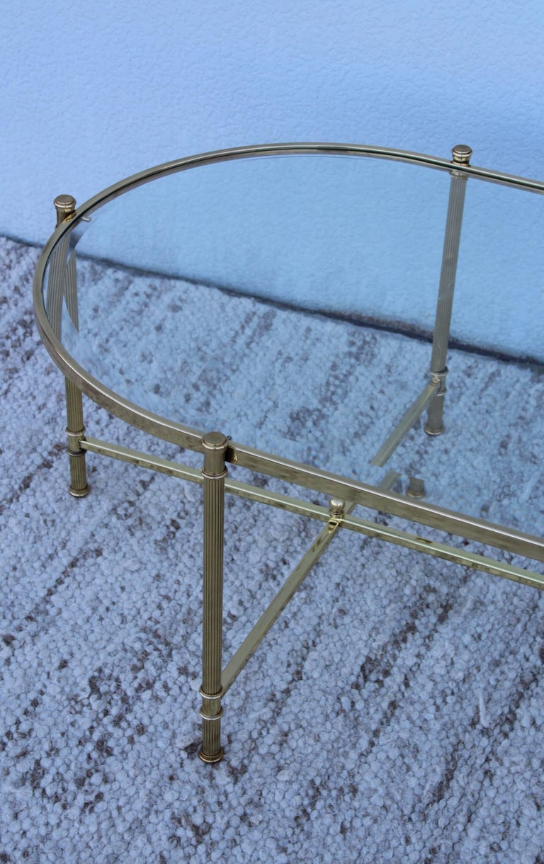 Mid-Century Modern Italian Brass Coffee Table For Sale 5