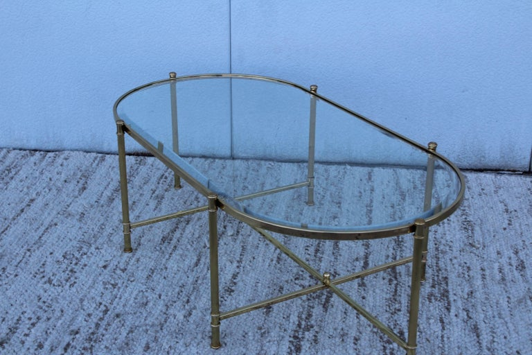 Mid-Century Modern Italian Brass Coffee Table For Sale 6