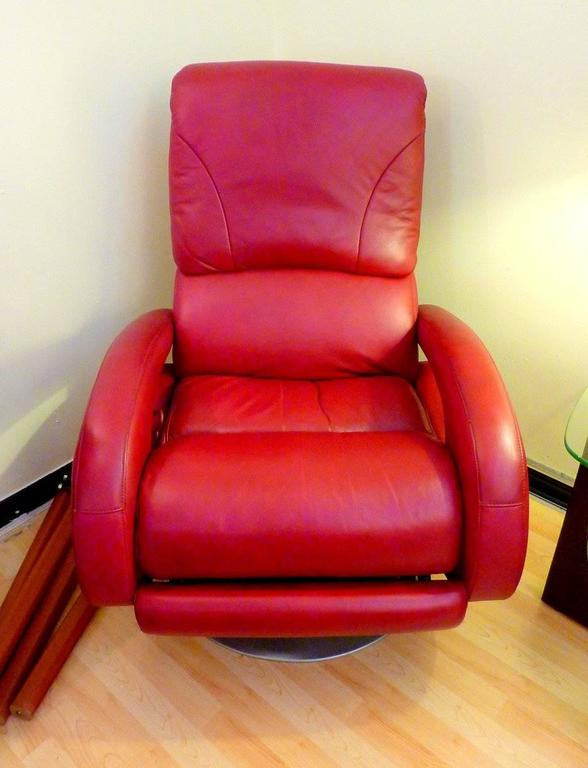 Swell Red Leather Recliner By Lane Uwap Interior Chair Design Uwaporg