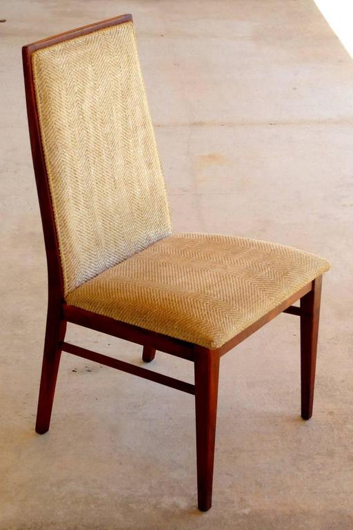 Set Of Six Walnut Dining Chairs By Dillingham For Sale At