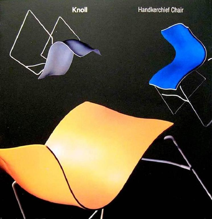 Set of Four Handkerchief Armchairs by Massimo Vignelli for Knoll For Sale 1