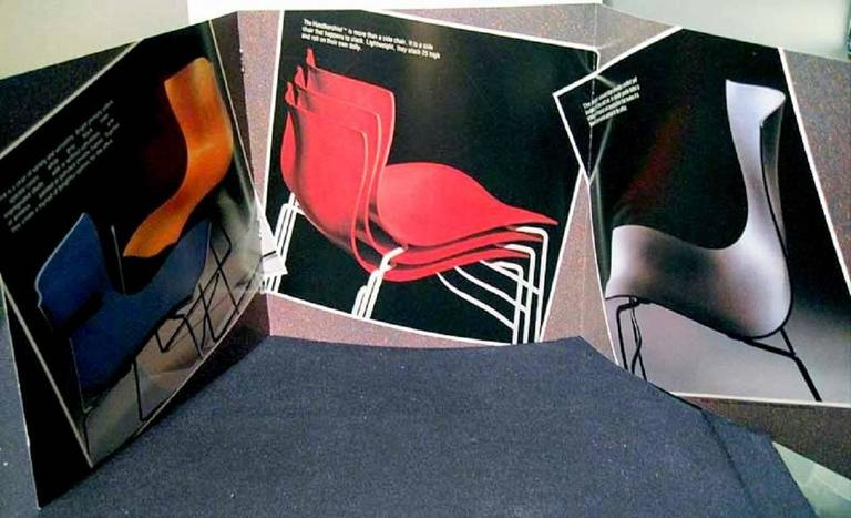 Set of Four Handkerchief Armchairs by Massimo Vignelli for Knoll For Sale 2