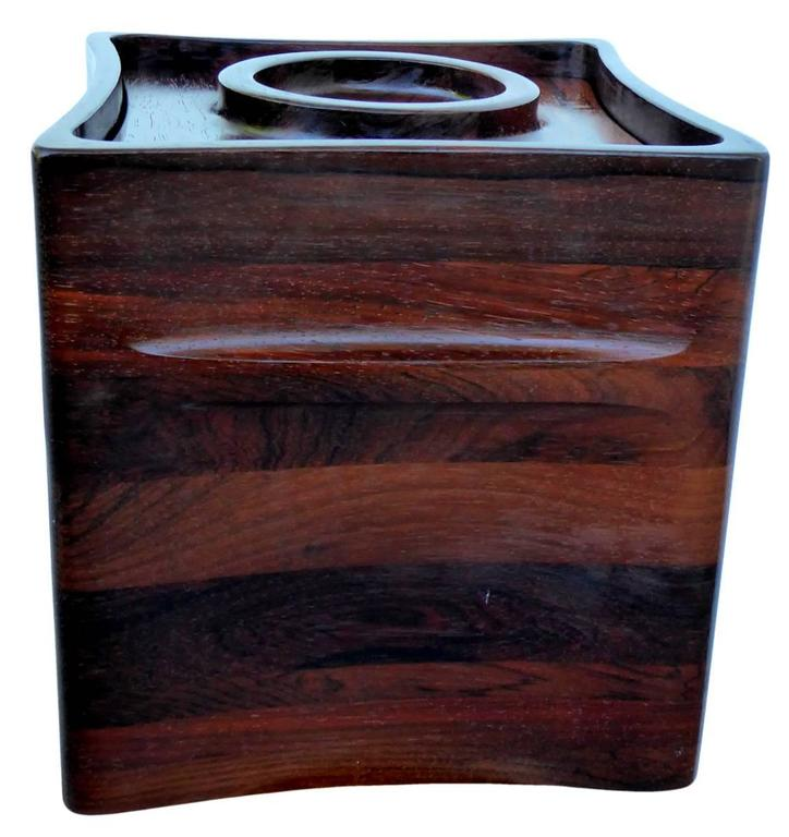 Mid-Century Modern Rosewood Ice Bucket by Jens Quistgaard for Dansk For Sale
