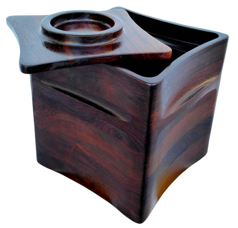 Danish Rosewood Ice Bucket by Jens Quistgaard for Dansk For Sale